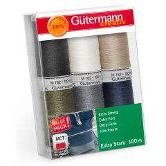 Gütermann Sewing thread set Extra Strong 6x100m - 1pc