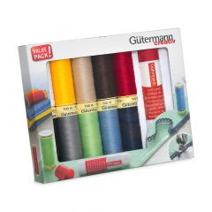 Gütermann Sew-all thread set with textile glue 10x100m - 1pc