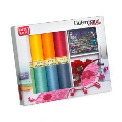 Gütermann Sew-all thread set with fabric clips 8x100m - 1pc