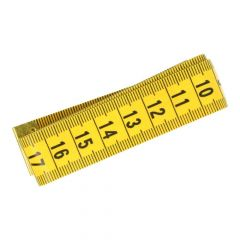 Plastic tape measure yellow-black - 12pcs