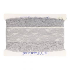 Floral nylon stretch lace 67mm - 25m