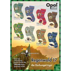 Opal Regenwald XVII 4-ply ast. 5x100g - 8 colours - 1pc