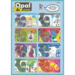 Opal 25 Jahre 4-ply ast. 5x100g - 8 colours - 1pc