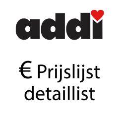 Retail price list Addi - 1pc