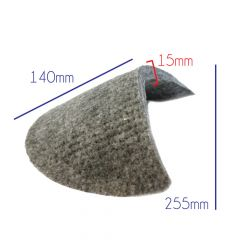 Shoulder pads for coats Felt - 10 pairs - Grey