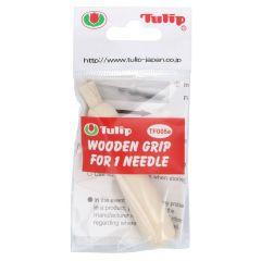 Tulip Wooden grip for 1 needle - 3pcs