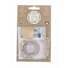 DMC Mini Embroidery hoop animals cat with chain - 1 piece