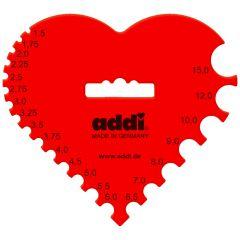 Addi Crochet hook-knitting gauge heart 1.50-15.0mm - 1x10pcs