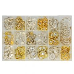Rhinestone clasps assorted - 18 varieties - 1pc