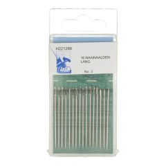 MMJZ Sewing needles long no.3-9 silver - 5x16-20pcs
