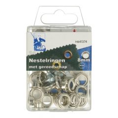 MMJZ Eyelets with tools 8mm - 5pcs