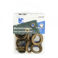 MMJZ Eyelets with tools 14mm - 5pcs