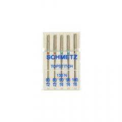 Schmetz Topstitch 5 needles 80-12 - 100-16 - 30pcs