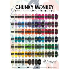 Scheepjes Chunky Monkey shop poster A2-size - 1pc