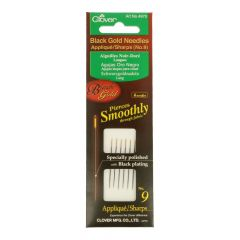 Clover Appliqué needles sharps black-gold no.09-12 - 3pcs