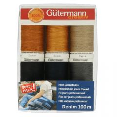 Gütermann Sewing thread set denim 6x100m - 1pc