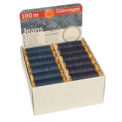 Gütermann Storage and display box jeans 36 bobbins - 1pc