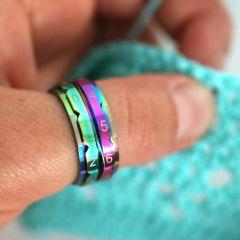 KnitPro Row counter ring 17.3-21.4mm rainbow - 3pcs