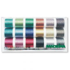 Madeira Supertwist metallic embroidery thread 18x200m - 1pc