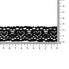 Nylon stretch lace edge trim 25mm - 25m