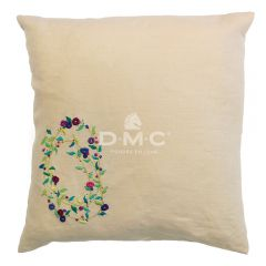 DMC embroidery kit Spring Florals cushion 40x40cm - 1pc