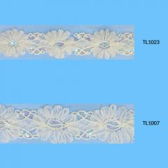 Ribbon with flowers 55-65mm - 6.5m