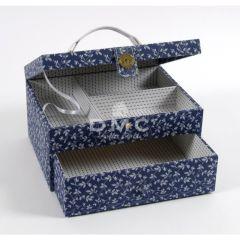 DMC Storage Box w. Drawer Rectangular blue 21x28x15cm - 1pc